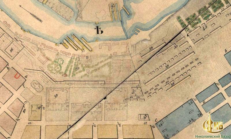 Схема Адмиралтейской площади