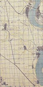 Маршрут узкоколейной ж/д Варваровка-Григорьевка на немецкой карте времен ВОВ