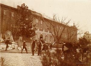 Тушение пожара в Николаевской мужской Александровской гимназии