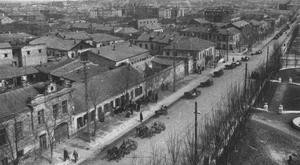 Советский обоз на ул.Херсонской в Николаеве. Март 1944 г.
