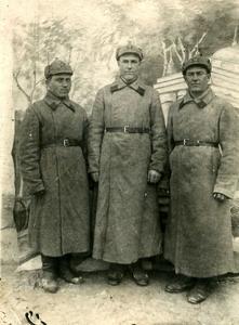 Участники Финской войны (в центре – Петров А.Н.). Финляндия, 30.01.1940 г.