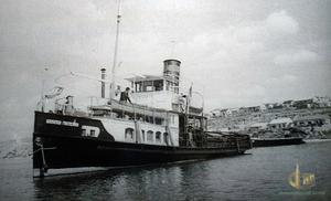 """Грузо-пассажирский пароход """"Гастелло"""" 1946 год"""