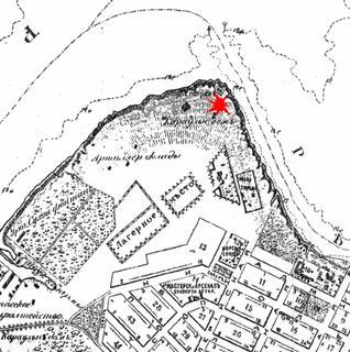 Место взрыва на мысе Порохового погреба