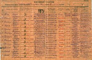 Список убитых, в том числе и живой Крючков И.С. Из ОБД Мемориал.