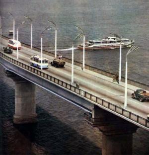 Варваровский мост в г. Николаеве. 1960-е.